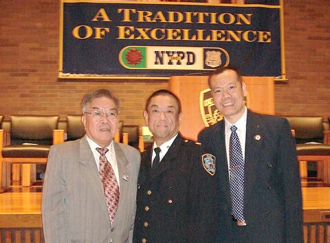 Inspector                     Gin Yee with President Gong Sum and Grand Advisor                     John B. J. Yee