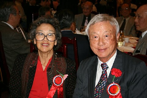 Dr. and                     Mrs. Herbert Yee at the Head Table