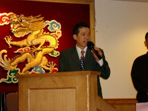 President                     Michael giving welcoming speech