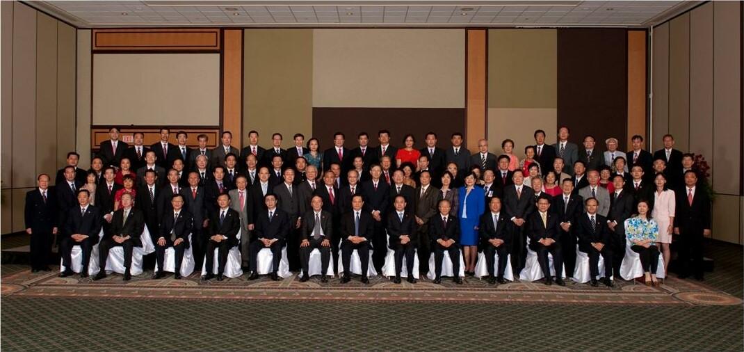 中國國家主席胡錦濤訪問加拿大合照留念