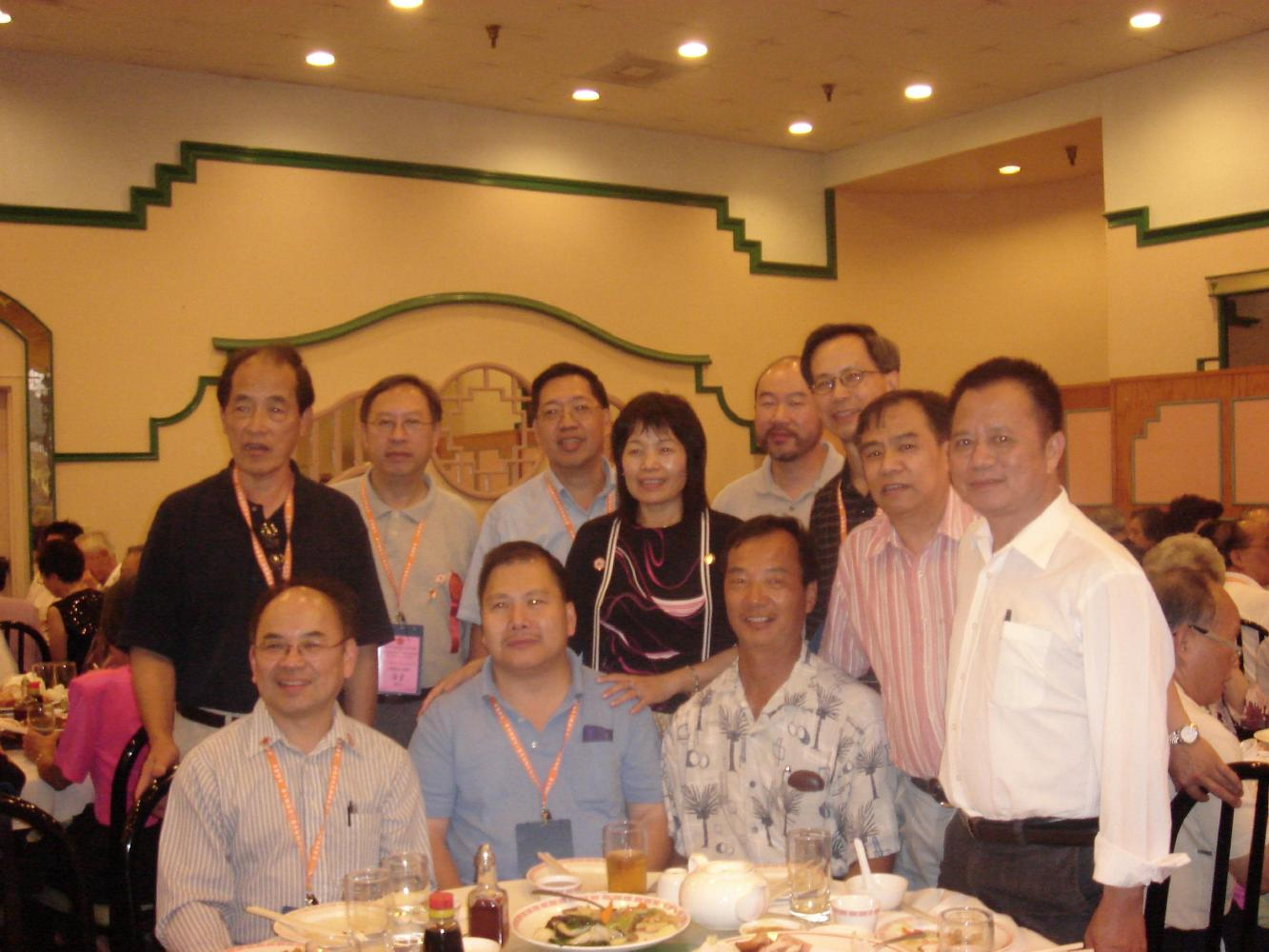With members of