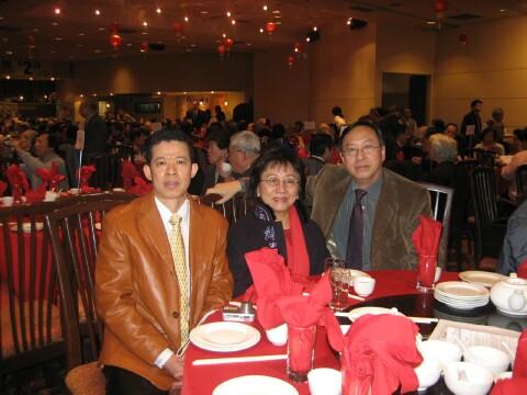 Michael, Fred and Clara Yee at Spring Banquet